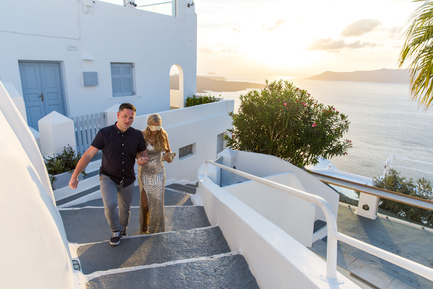wedding proposal at dana villas santorini keith louisa