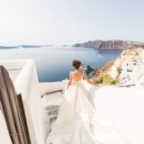17 Santorini Wedding Dress Photography