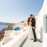 2 Santorini Blue Domes Photography
