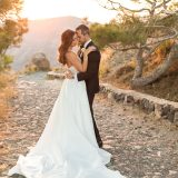 6 Santorini Bride Golden Hour